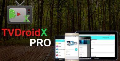 Descarga TVDroidX APK Android / ultima versión 2018