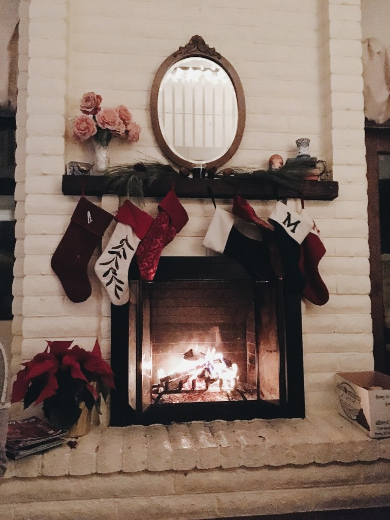 stockings hung by the fire