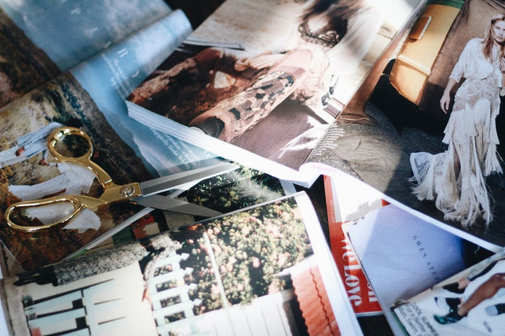 looking through magazines