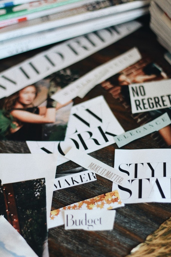 magazine typography clippings