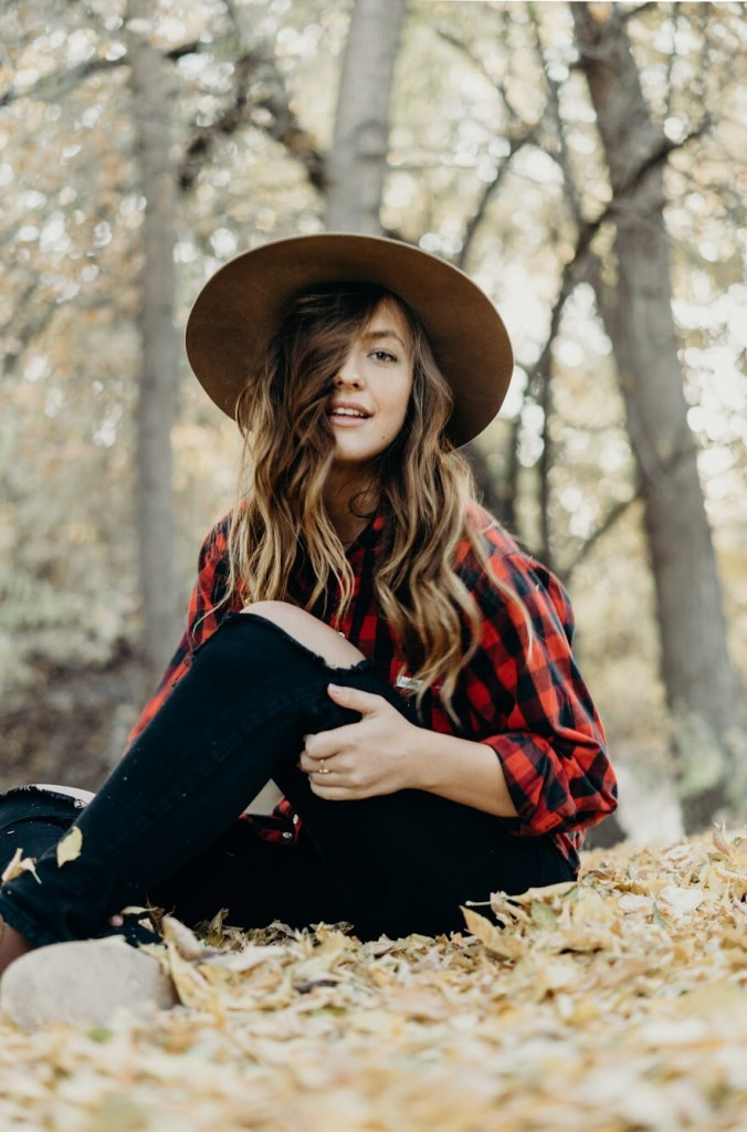 bohemian plaid fall outfit