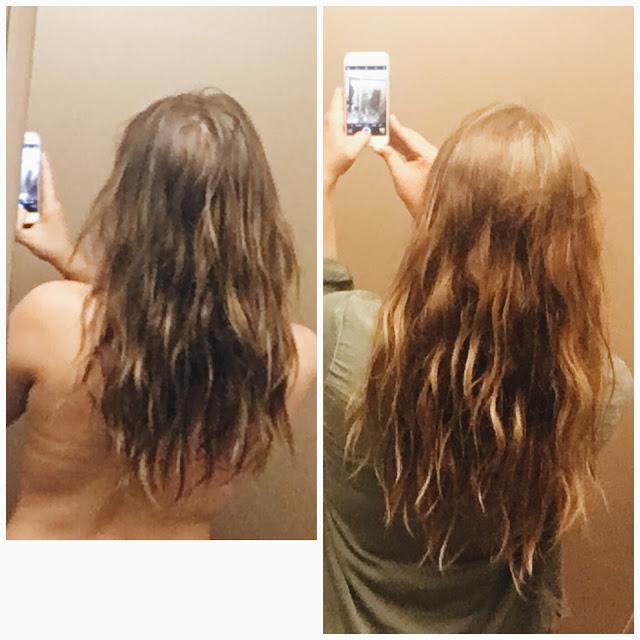 before and after using sugar bear hair