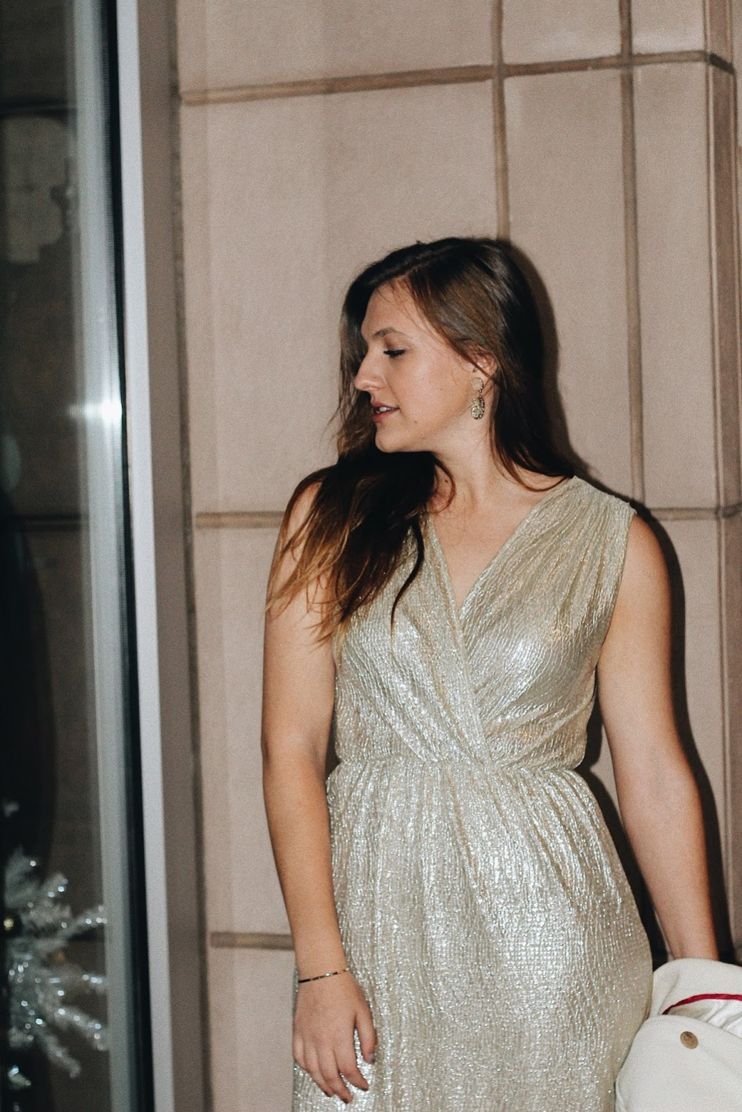 old hollywood golden glamour dress