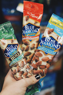 healthy gas station blue diamond salted almonds flavors