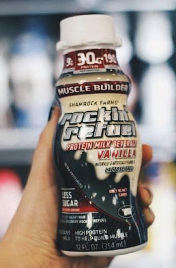 healthy gas station muscle builder shamrock farms rockin refuel vanilla protein shake