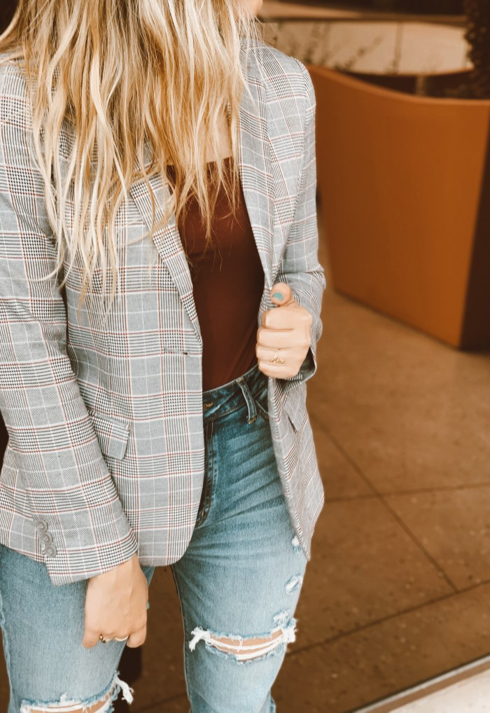 menswear glen plaid blazer fall