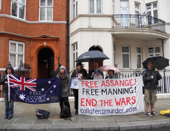 Vigil at Ecuadorian embassy