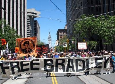 Brad suppporters at SF pride