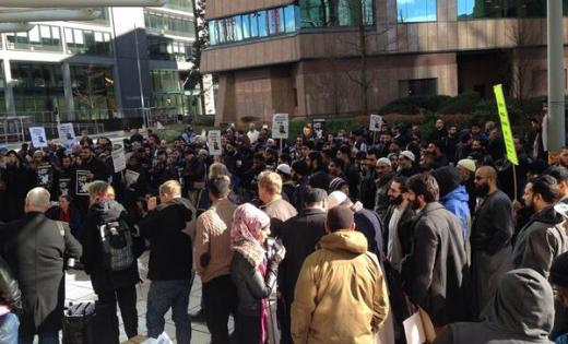 Moazzam Begg rally brum mar 1