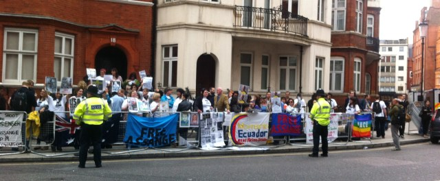 Julian Embassy supporters 19thJune 2yrs