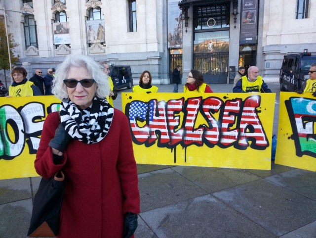 chelsea nancy hollander in spain with amnesty