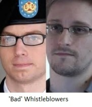 Chelsea and Snowden 'Bad' Whistleblowers 3
