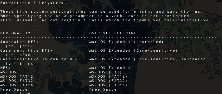 Partition using Terminal (1/2)