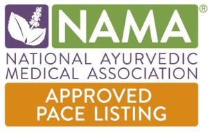 PACE approved class logo - National Ayurvedic Medical Association