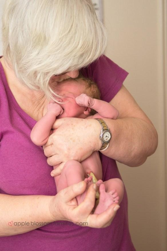 Newborn Girl born at home