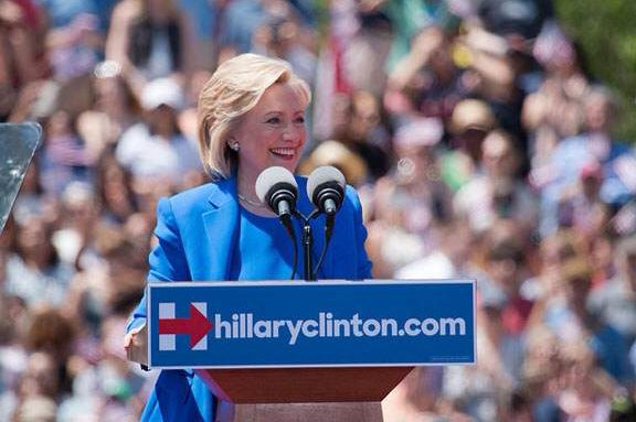 Hillary Clinton speaks at a rally during the 2016 presidential race