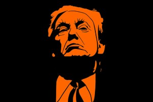 Donald Trump Illustration in Orange