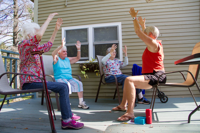 chair yoga for seniors cocoon hanging wise women vermont gentle senior classes dr carol bokan certified lakshmi voelker instructor teaches and