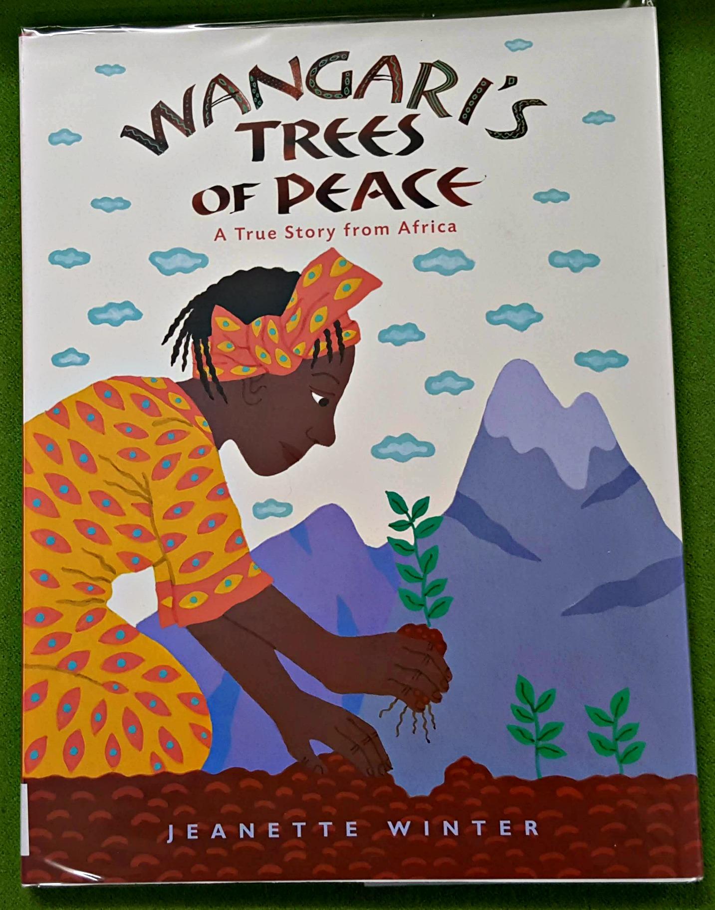 Wangari Maathai planting seeds in Kenya
