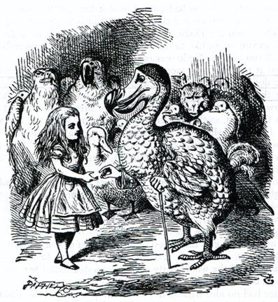 Illustration Alice in Wonderland and the Dodo