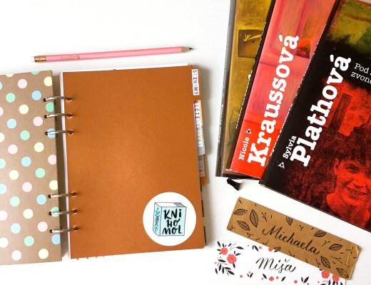 čtenářský deník, knihy a záložky