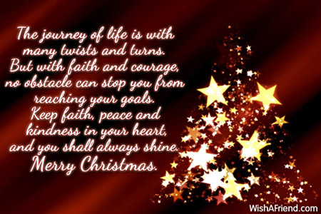 The Journey Of Life Is With Merry Christmas Message