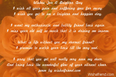 Beautiful Wallpapers With Heartfelt Quotes Wishes For A Brighter Day Get Well Soon Poem