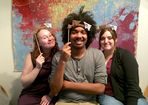 Chris Silverberg poses with Erin and Claire for Wishbonafide's episode 5
