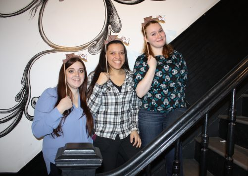 Meghan Berreta poses with Erin and Claire for Wishbonafide Episode 8