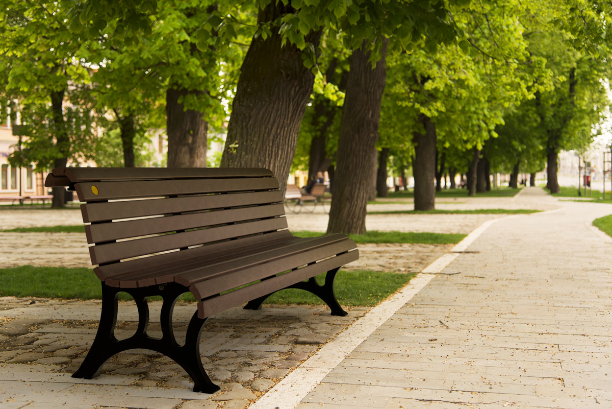Notre Dame Park Bench Wishbone Site Furnishings