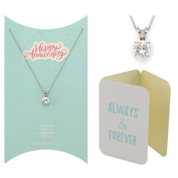 Anniversary Solitaire Pendant Necklace