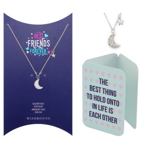 Friends Moon and Stars Pendant Necklace