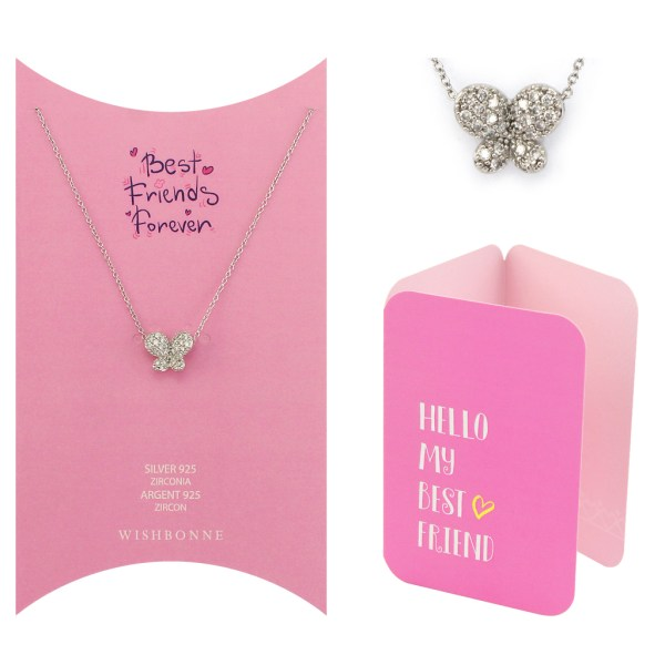 Friends Ribbon Heart Pendant Necklace