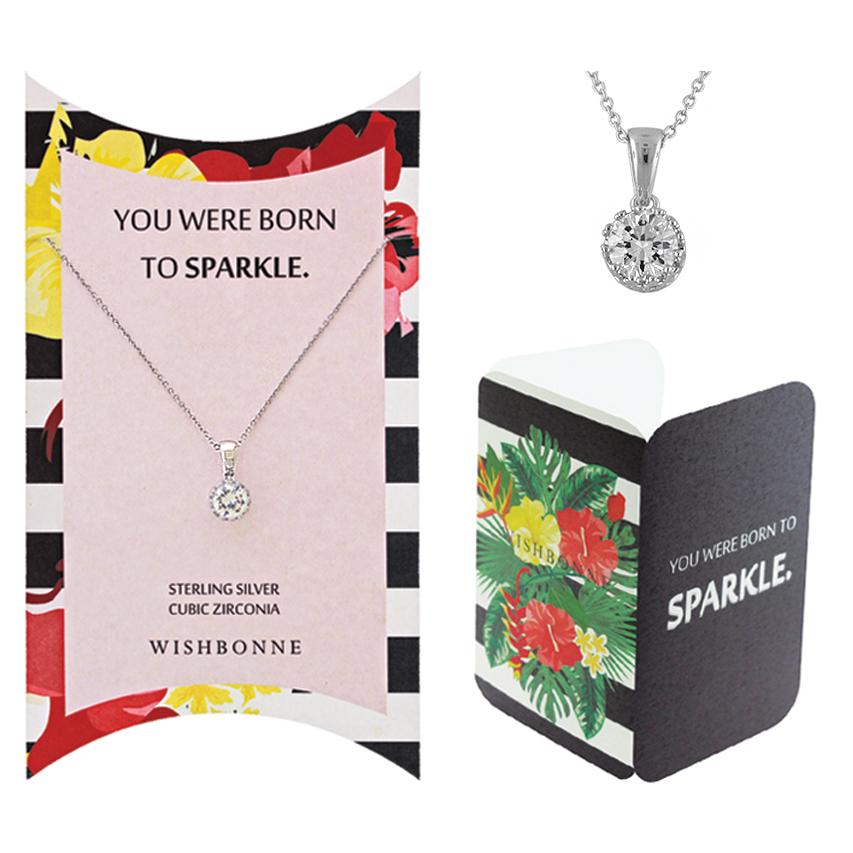 Positive Crown Solitaire Necklace