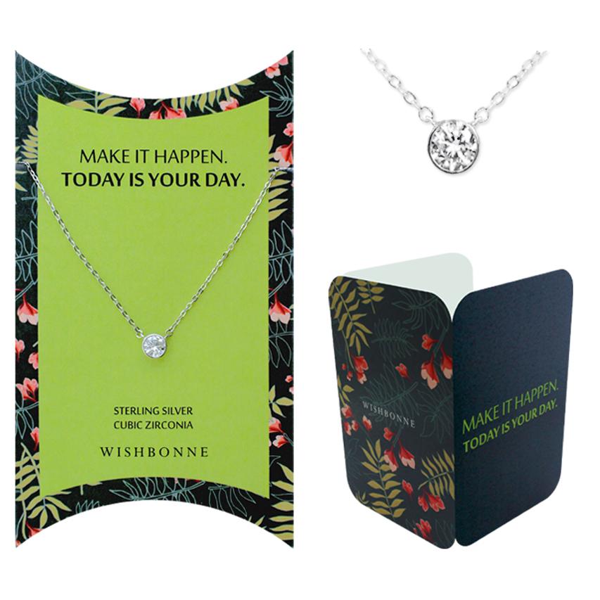 Positive Bezel Stone Necklace