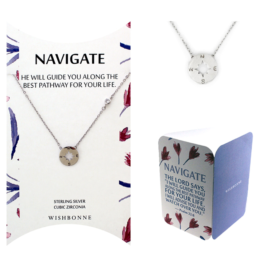 Biblical Navigate Compass Necklace