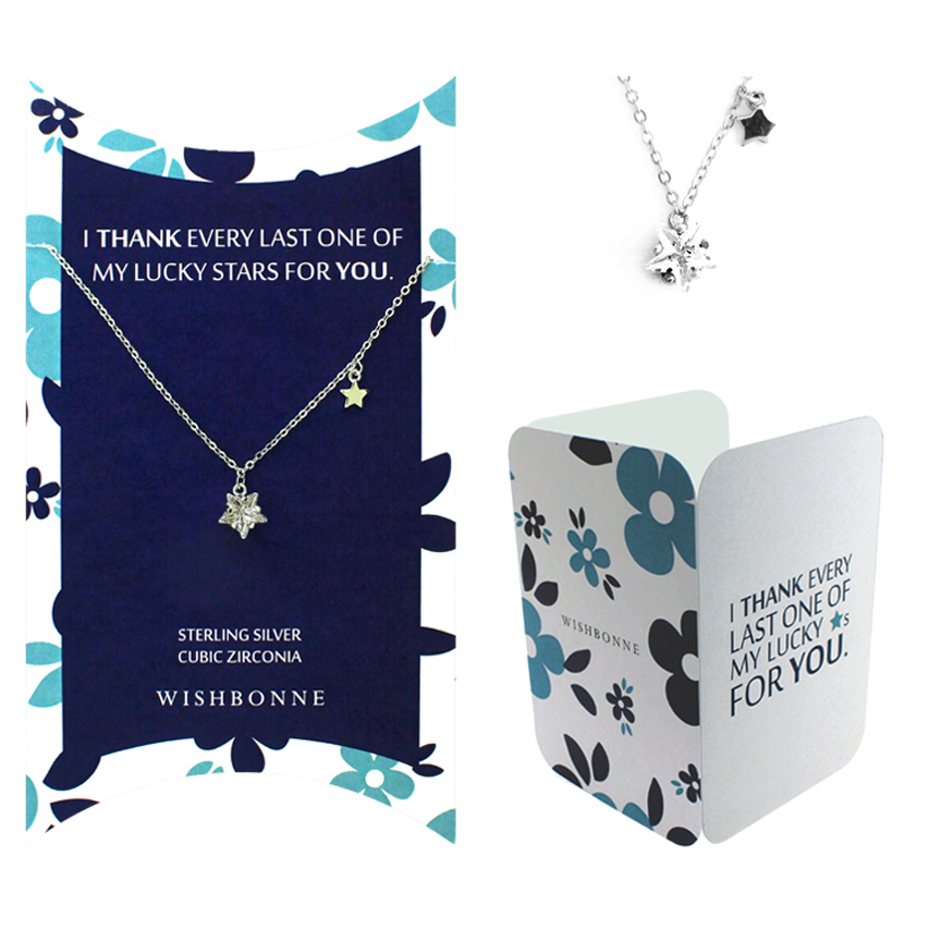 Thank you Bright Star Solitaire Necklace