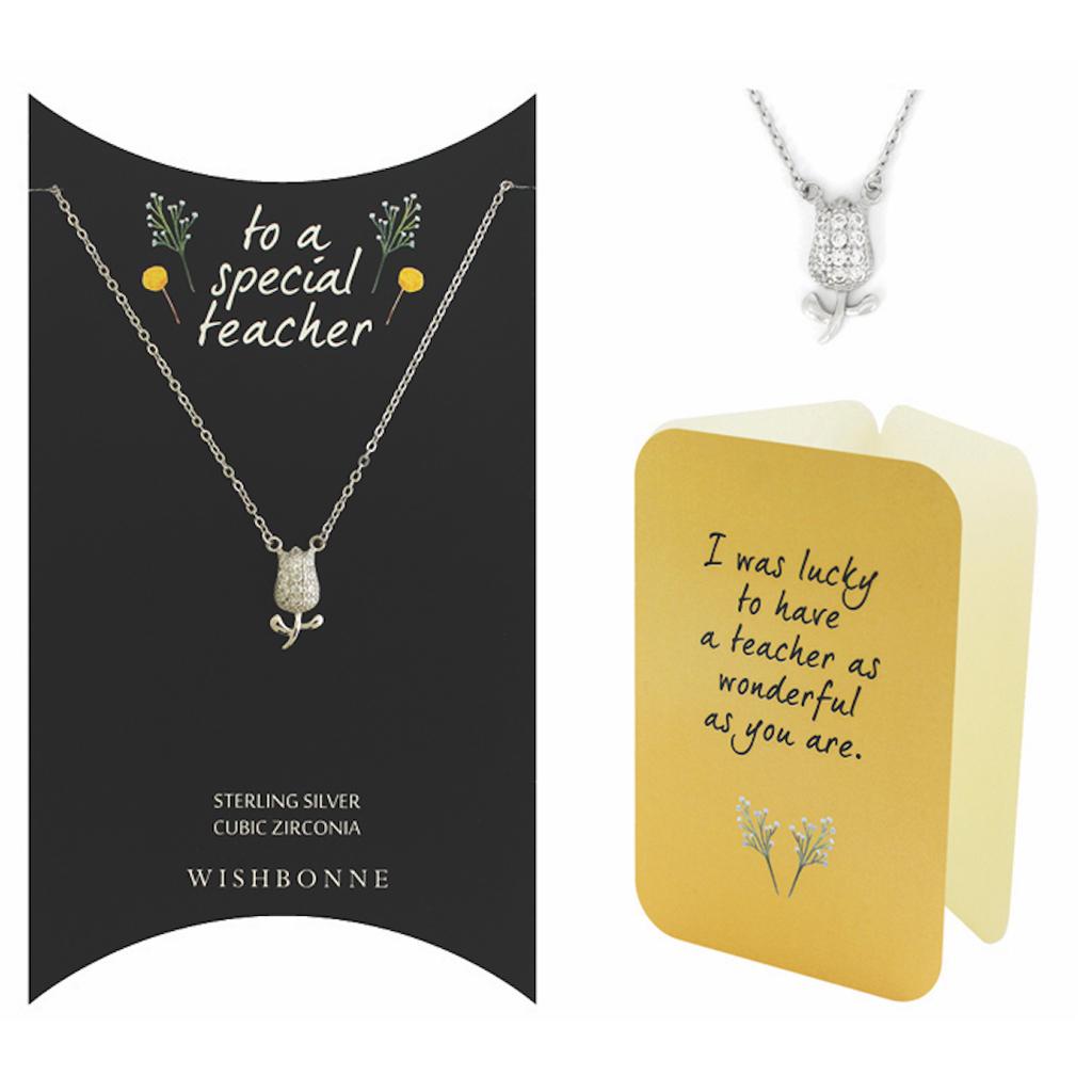 Teacher Tulip Pendant Necklace