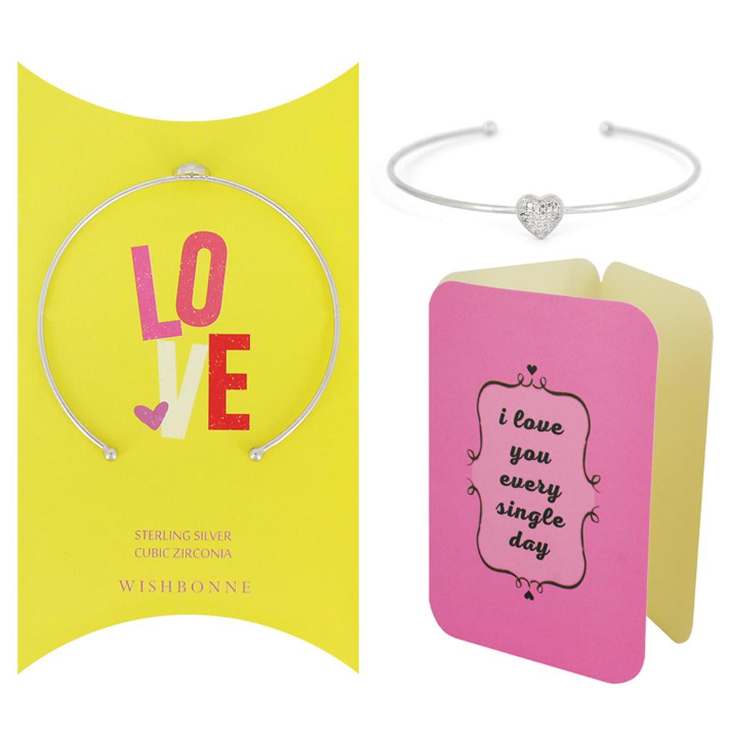 Loved One Heart Cuff Bracelet Set
