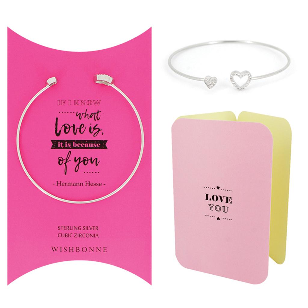 Loved One Double-Heart Cuff Bracelet