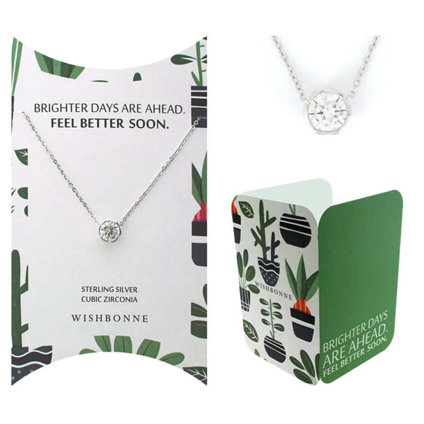 Get Well Bezel Stone Necklace