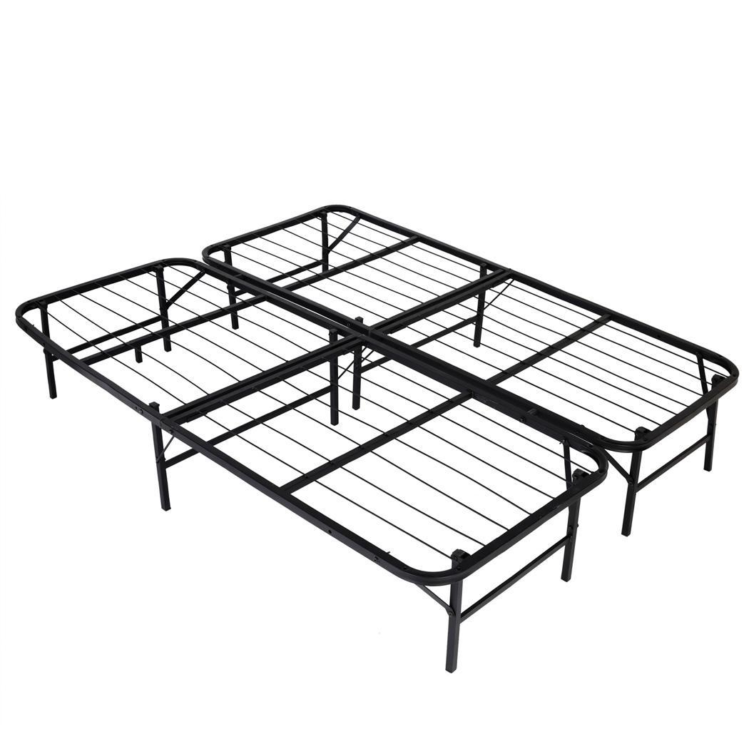 Hot 77 Inch Queen Size Platform Bed Frame With Metal
