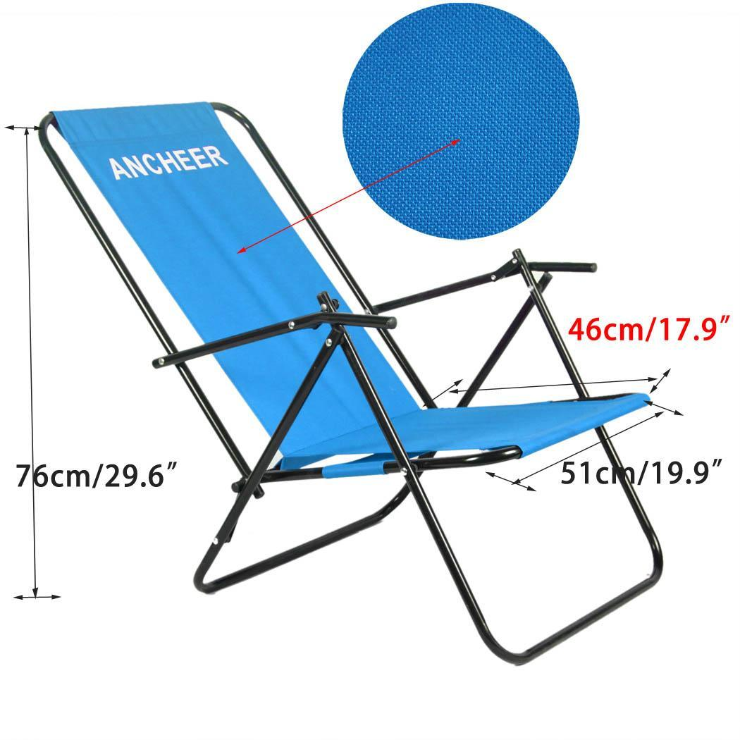 Lightweight Folding Beach Lounge Chair Folding Chaise Lounge Chair Patio Outdoor Pool Beach Lawn