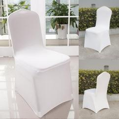 How To Make A Chair Cover For Wedding Hanging Installation White Spandex Covers Supply Party Banquet Venue Details About Decor 100pcs