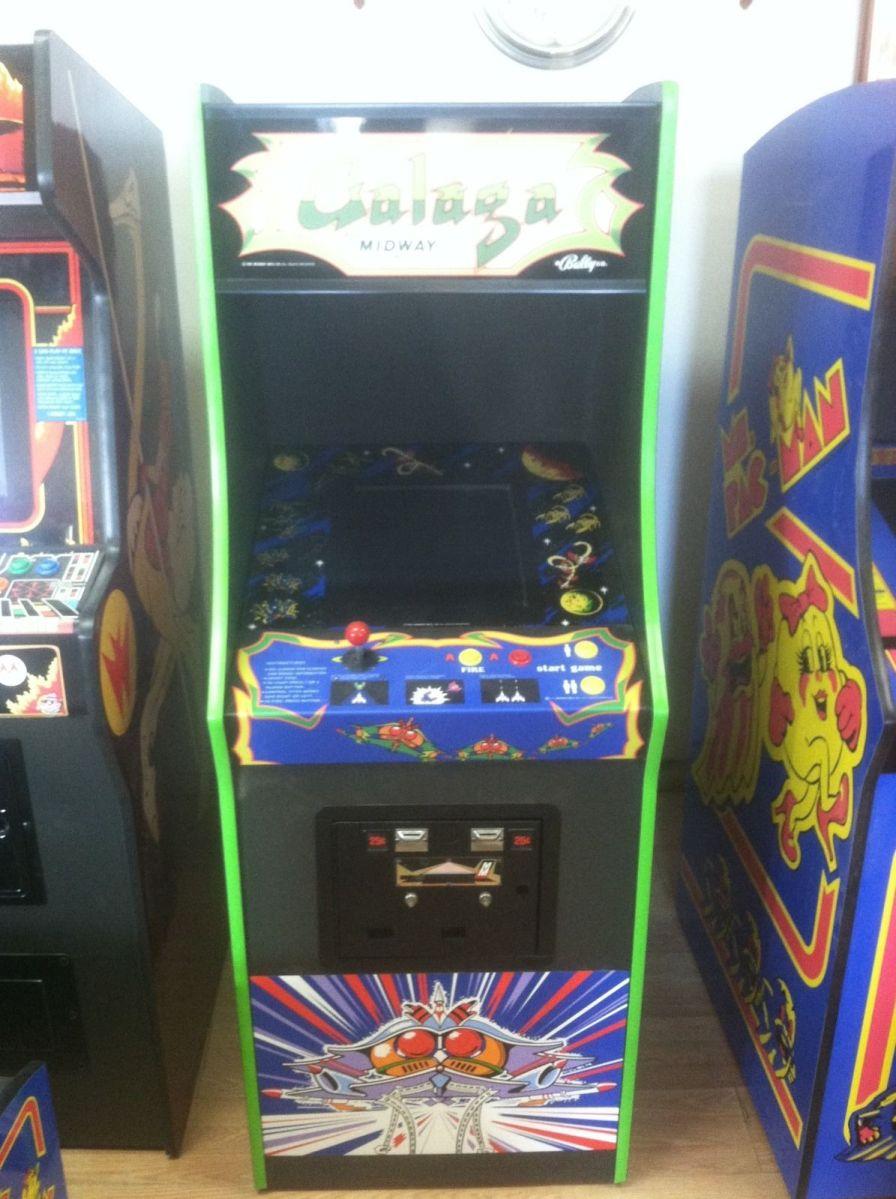Restored Galaga Arcade Machine Upgraded Play 60 Games