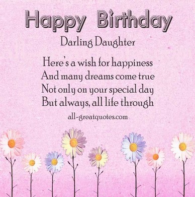 birthday wishes for daughter