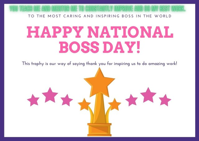 Happy National Boss Day