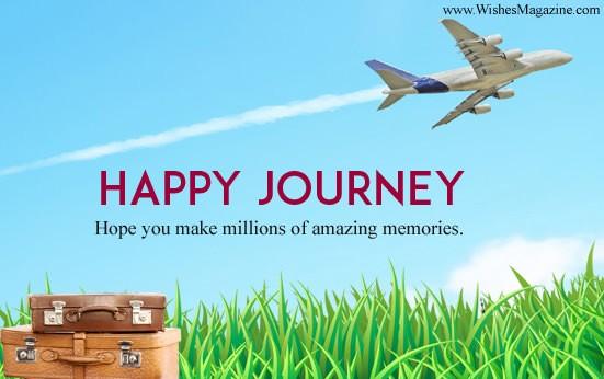 Safe journey picture messages