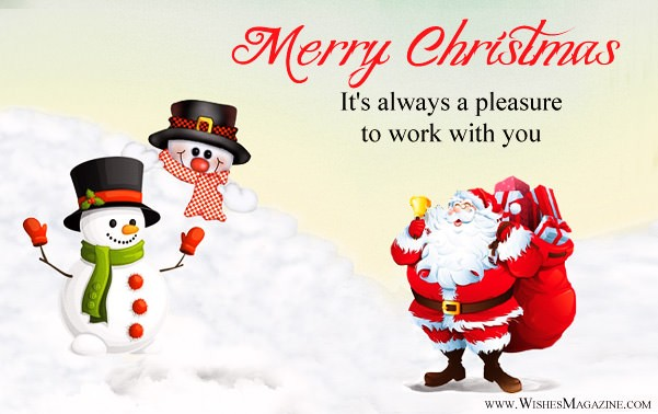 Merry Christmas Message to Boss and Employees
