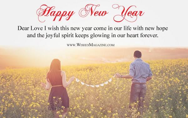 Happy New Year Wishes For Girlfriend Boyfriend